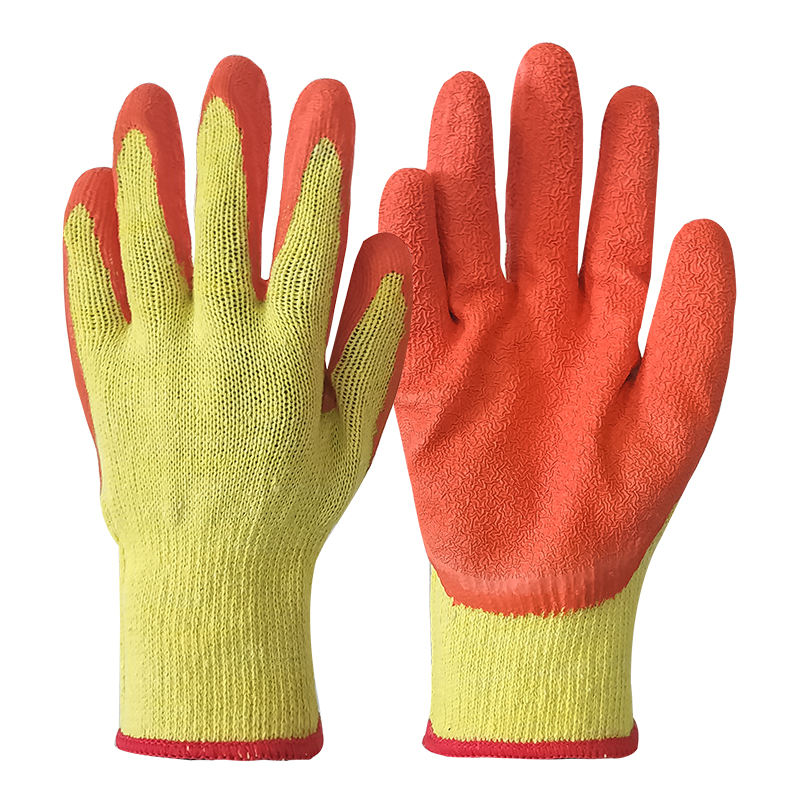 good quality 10G latex coated gloves safety gloves cheap work gloves en388