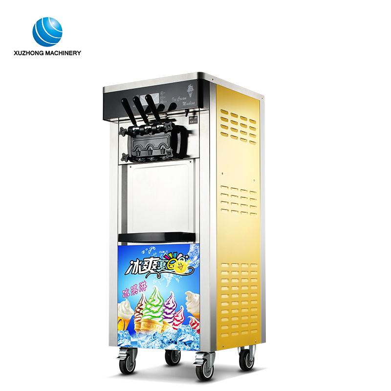high efficient energy saving 3 flavor softy ice cream machine commercial ice cream machine for sale