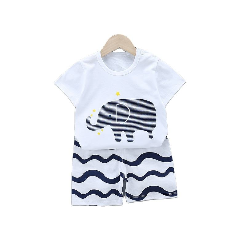 Spring Summer Short Sleeve Children Clothes Boy Appliqued OEM Suits For Boys