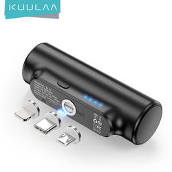 KUULAA Smallest Wallet Mini Portable Magnet Charger Power Ba