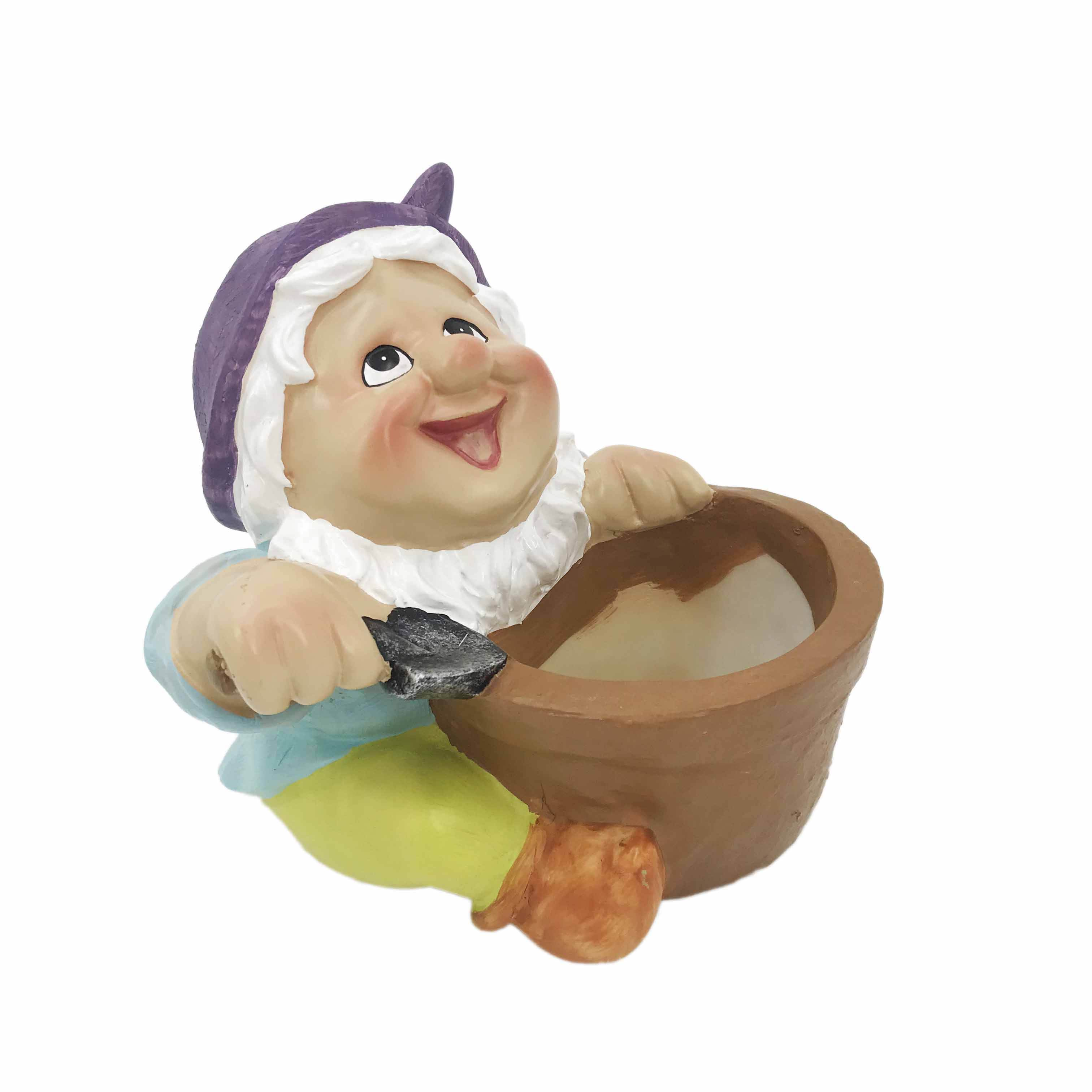 Indoor yard decorative home garden decor accessories miniature funny gnome state flower pots