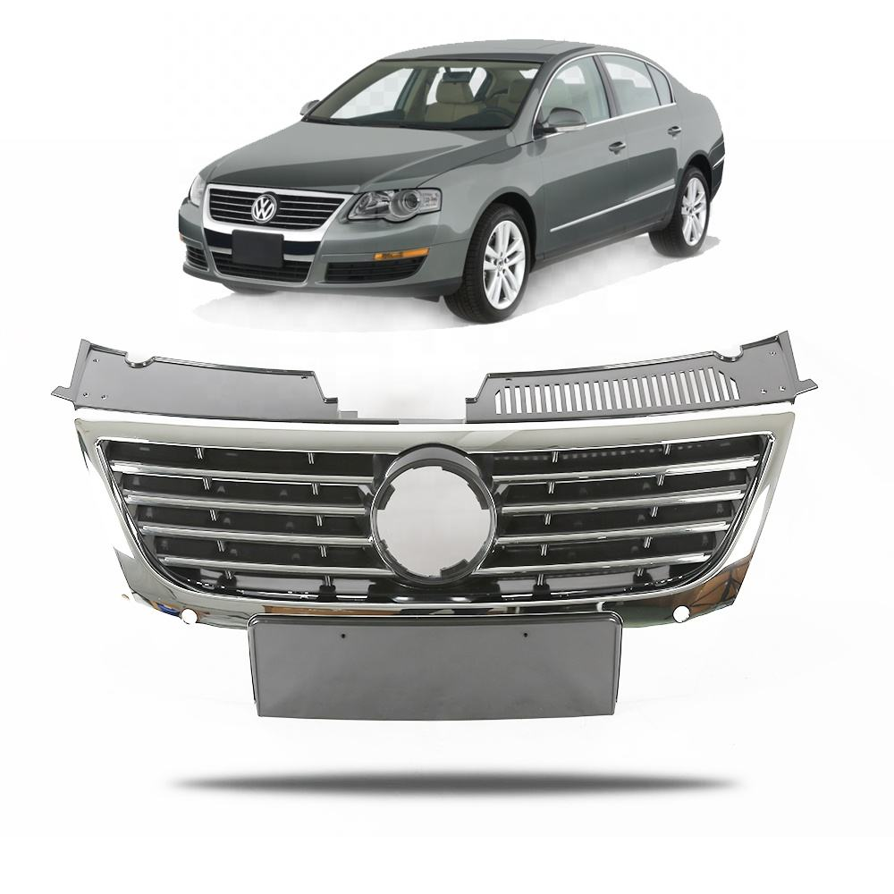 "Passend für <span class=keywords><strong>VW</strong></span> <span class=keywords><strong>Passat</strong></span> B6 06 ""-10"" Front <span class=keywords><strong>Grill</strong></span> Mitte Grille Chrome"