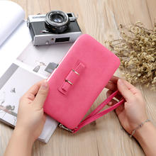 Online Shopping Wholesale Clutch Purse Women Wallet with wrist let