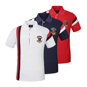 Mannen Anti-Pilling Snel Droog Ademend Katoen Golf Polo Shirts Groothandel
