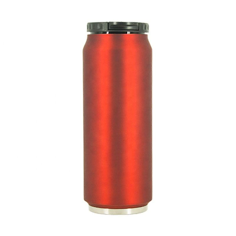 500ml Rubber Printing Beer Mug, Insulated Stainless Steel Soda Can Water Bottle