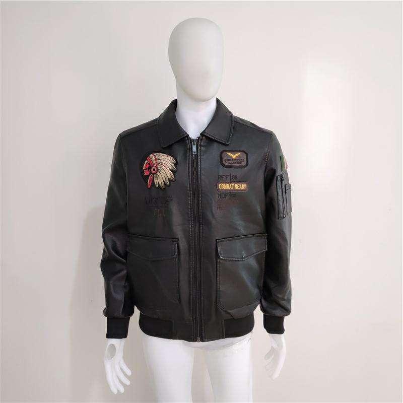 Mens Stylish Lambskin Genuine Leather Jacket 439
