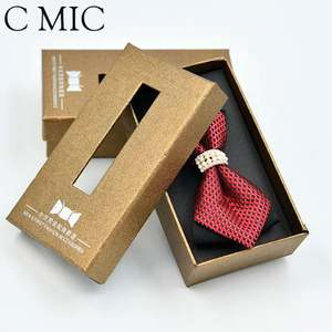 Luxury Custom Bow Tie Necktie Packaging Box Cheap Price With Bow Neck Tie Carton Paper Bowtie Bow Case Large Packaging Boxes
