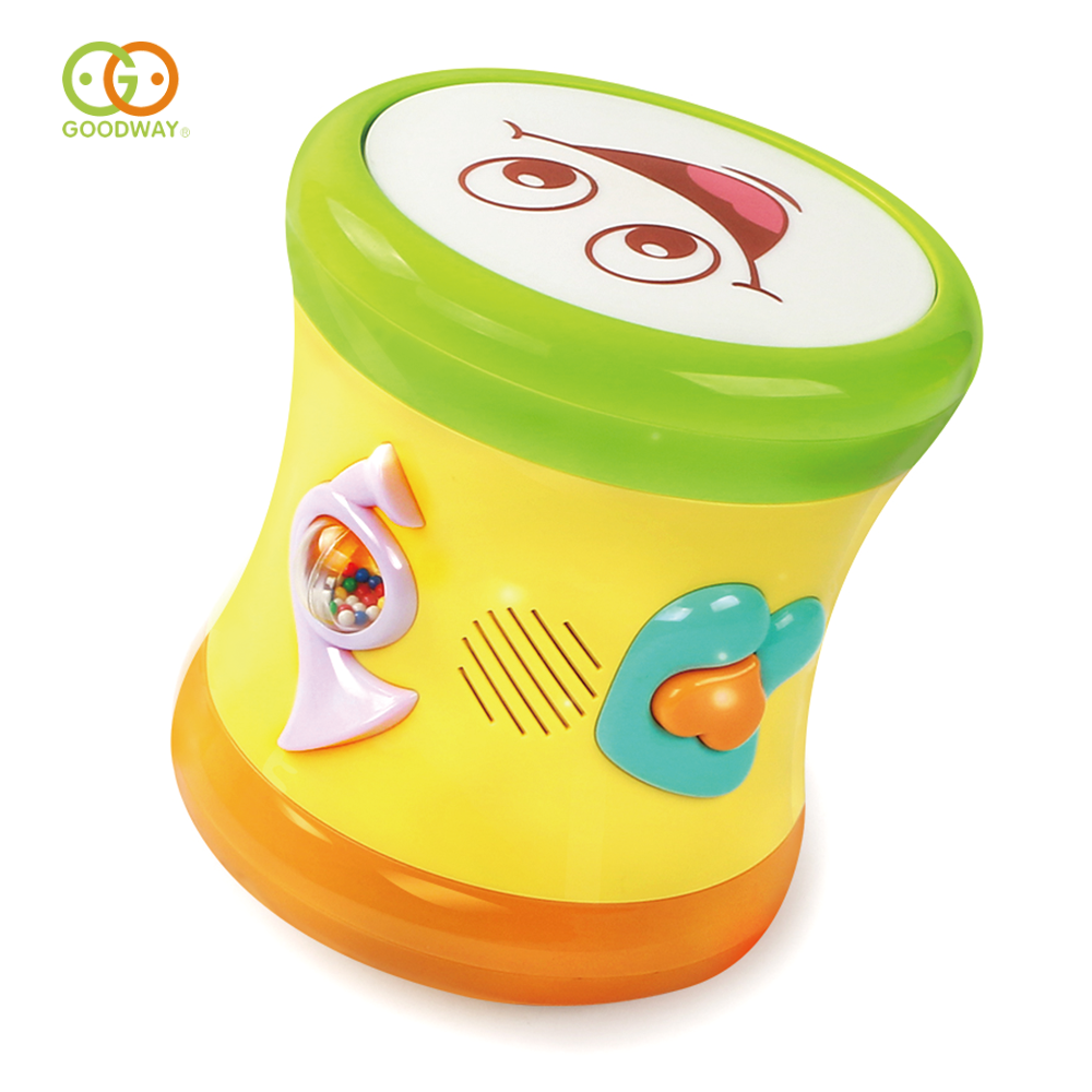 musical instrument baby battery operated cartoon pat hand drum toy