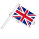 Professional supplier direct wholesale hand flag for all sport fan