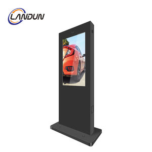 Floor Standing LCD Outdoor Advertising Display Totem Layar Sentuh Kios Ukuran 43 55 65 Inch