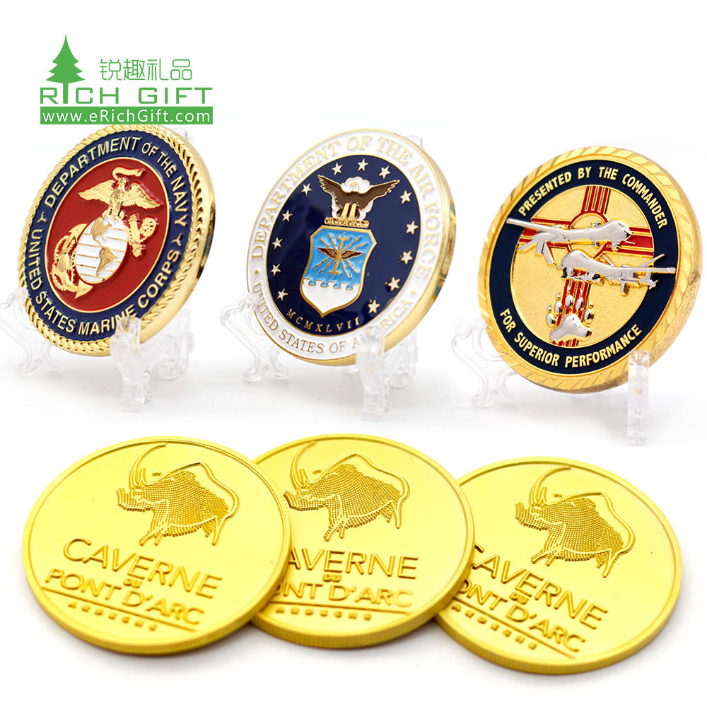 High quality custom metal brass silver plated dollar custom american canada commemorative challenge coins
