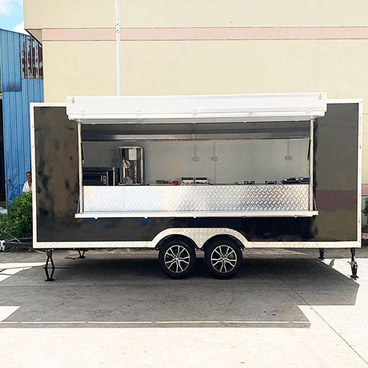 Factory Direct Sale Mobile Fast Food Carts / Electric Coffee Used Food Truck for Europe