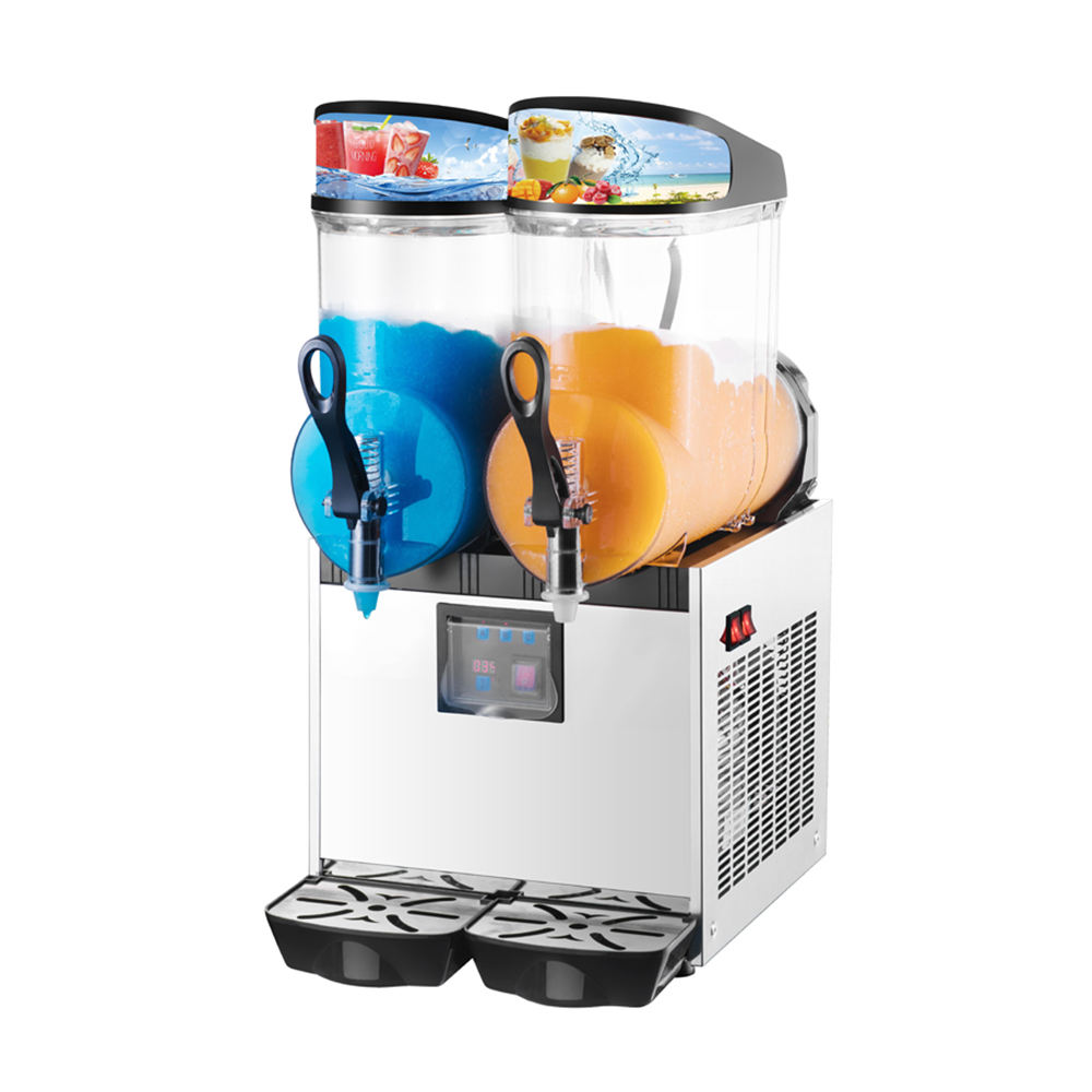 SPACE 2 Bowls Granita Slush Machine Slushie Machine With LED Lid