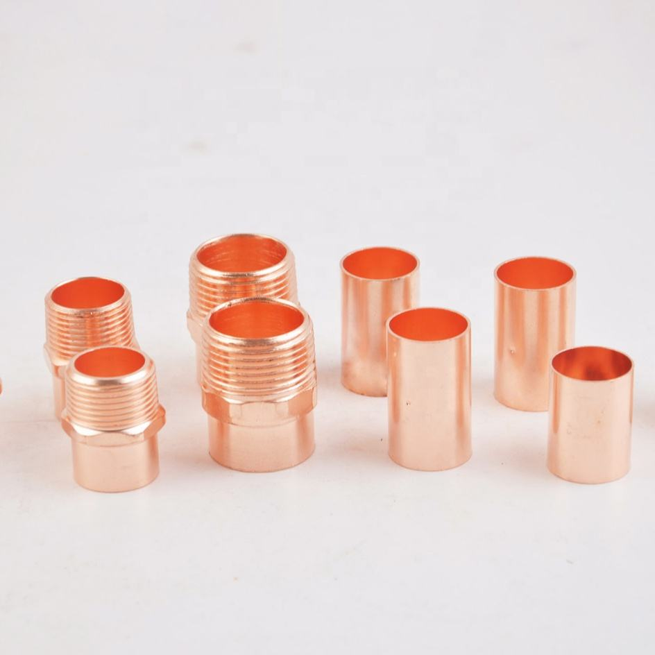 International standard copper coupler and copper adapter widely used in refrigeration and plumbing field
