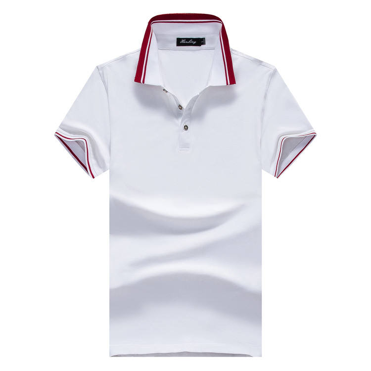 Cotton spandex high end short sleeve polo t shirt for men