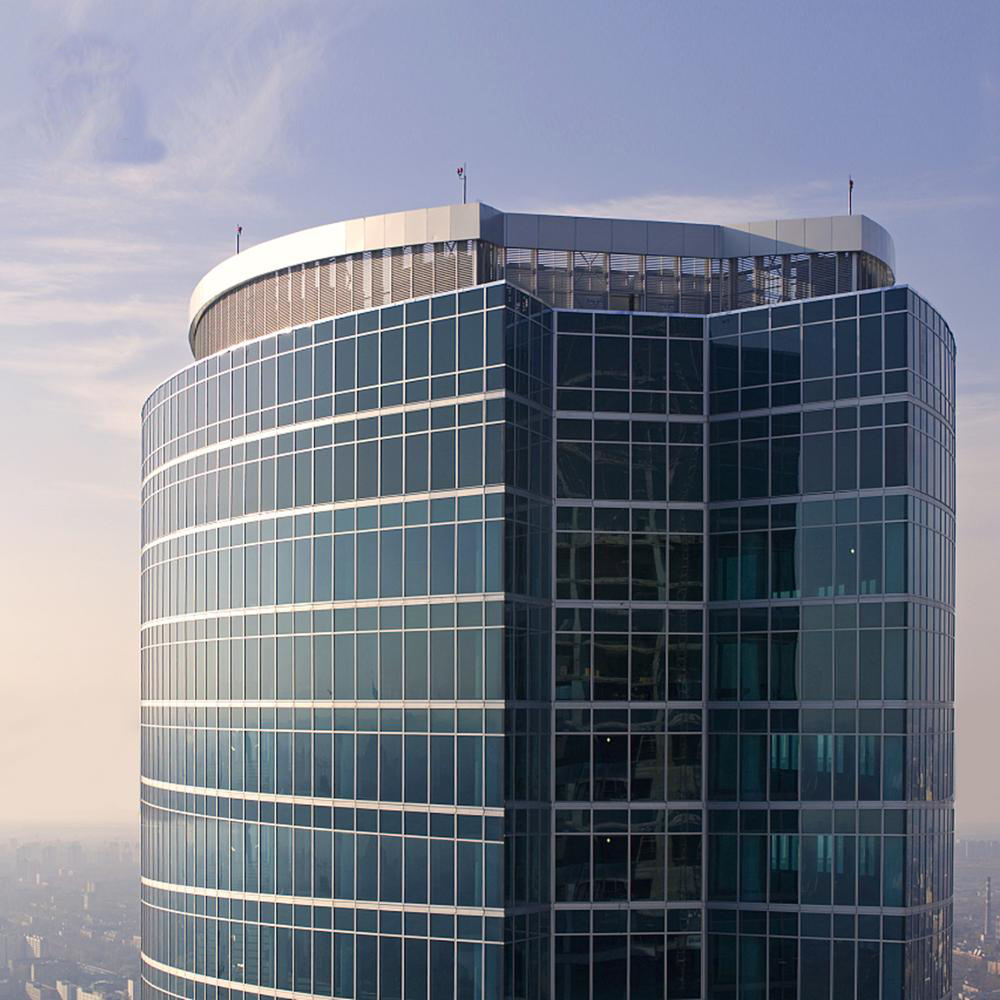 2020 new style aluminium profile glass curtain wall skyscraper