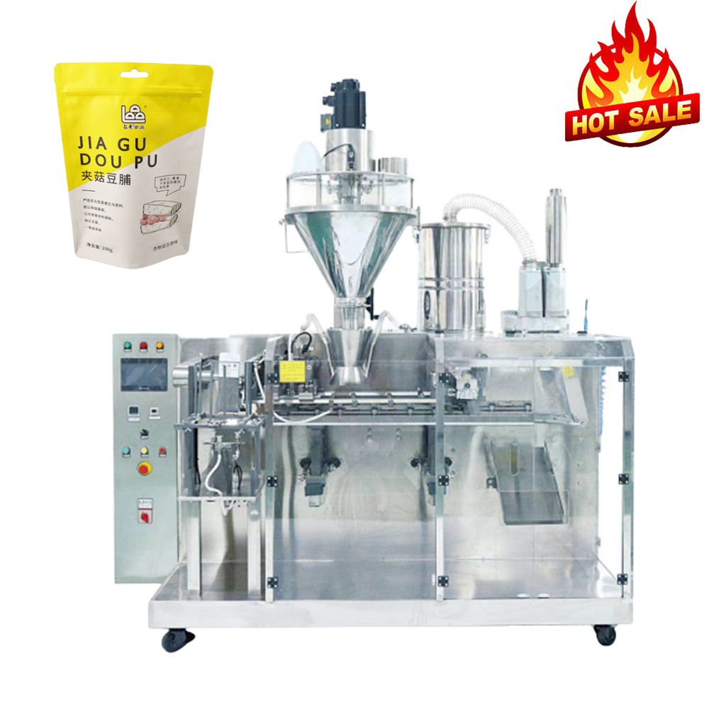 Automatic Stand Up Pouch Condiments Chili Spice Powder Packing Machine / Doypack Packing Machine / Mini Pick Fill Seal Machine