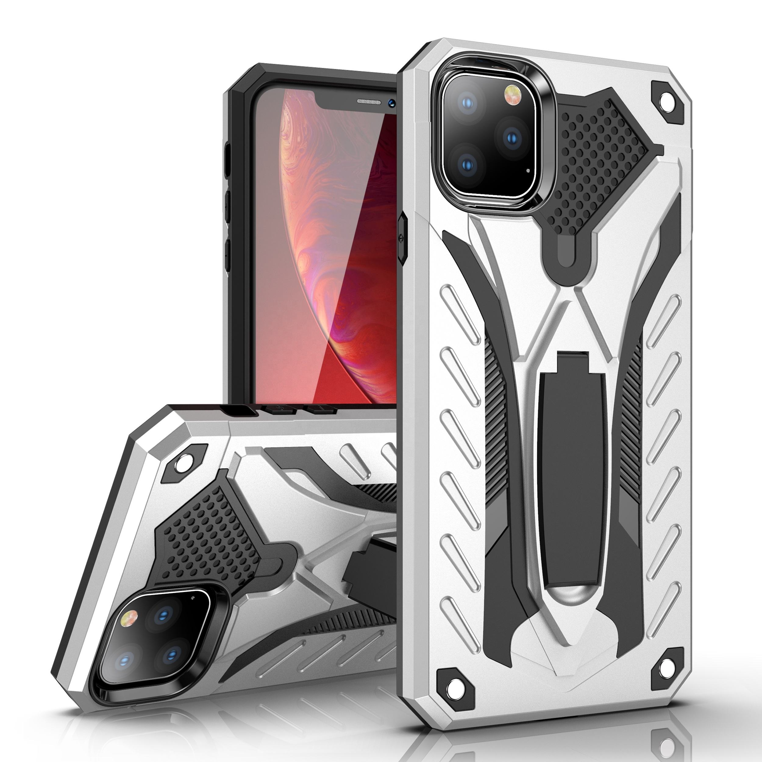 ZHIKE Hard PC Anti-Drop Mobile Phone TPU Cover with Stand Kickstand Shockproof Case for iPhone 11/11 Pro/11 Pro Max