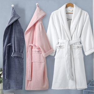 Unisex Terry Cloth Bathrobe 100% Long Staple Cotton Hotel/Spa Robes - Classic Bath Robes For Men or Women