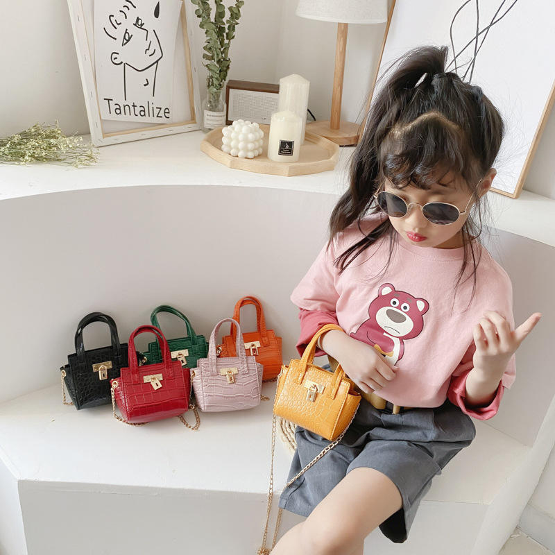 Mini Kids Square Shoulder Bag Fashion High Quality Pu Leather Handbag Baby Girl Chain Messenger Bags 2020 New hot sell