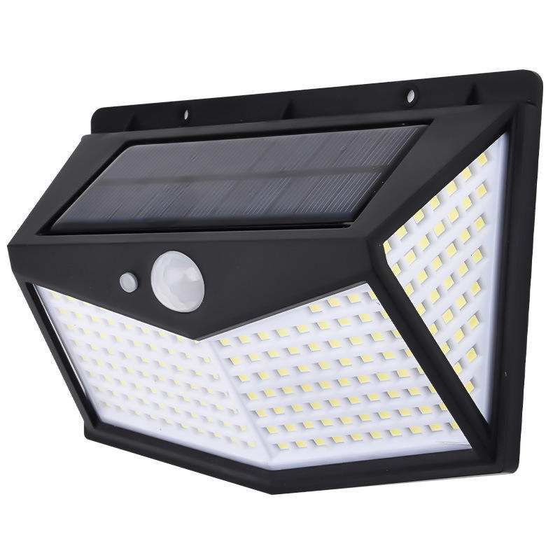 High quality Outdoor Waterproof IP65 212 LED Solar sensor Wall Light for Garage Patio Garden Driveway Yard