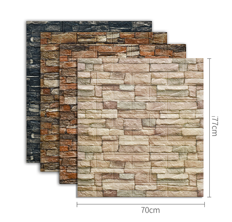 Best selling brick and wood wall industrial style 3d wallpaper