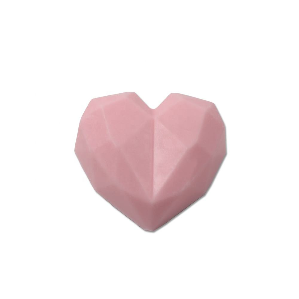 OEM Private label sailor pink heart geometry Cruelty-free oil handmade face &body soap Exfoliating Soap