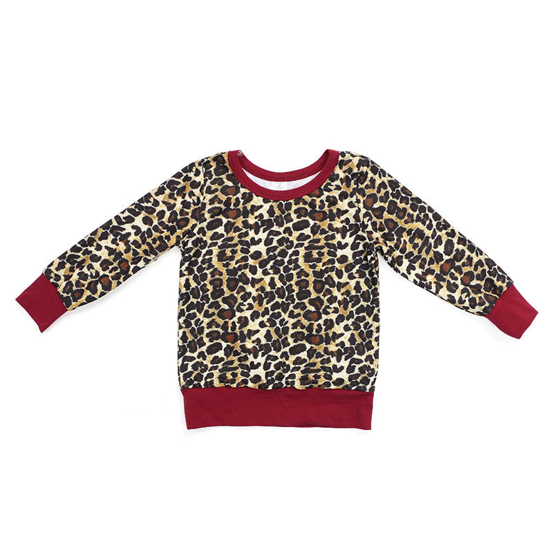 Kids clothes boutique top clothing baby leopard wholesale girls shirts and tops