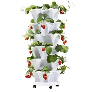 wholesale plastic stackable flower pots planters strawberry pots vertical garden