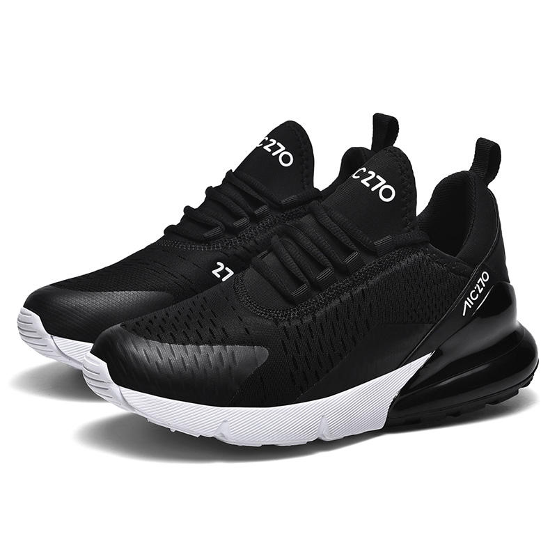 Ultraleve Ventilar Preto Sports Runing Sapatos Lace-up para As Mulheres ou Homens