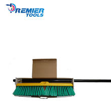 Factory Supply 18''  outside floor brush push  broom with  steel handle