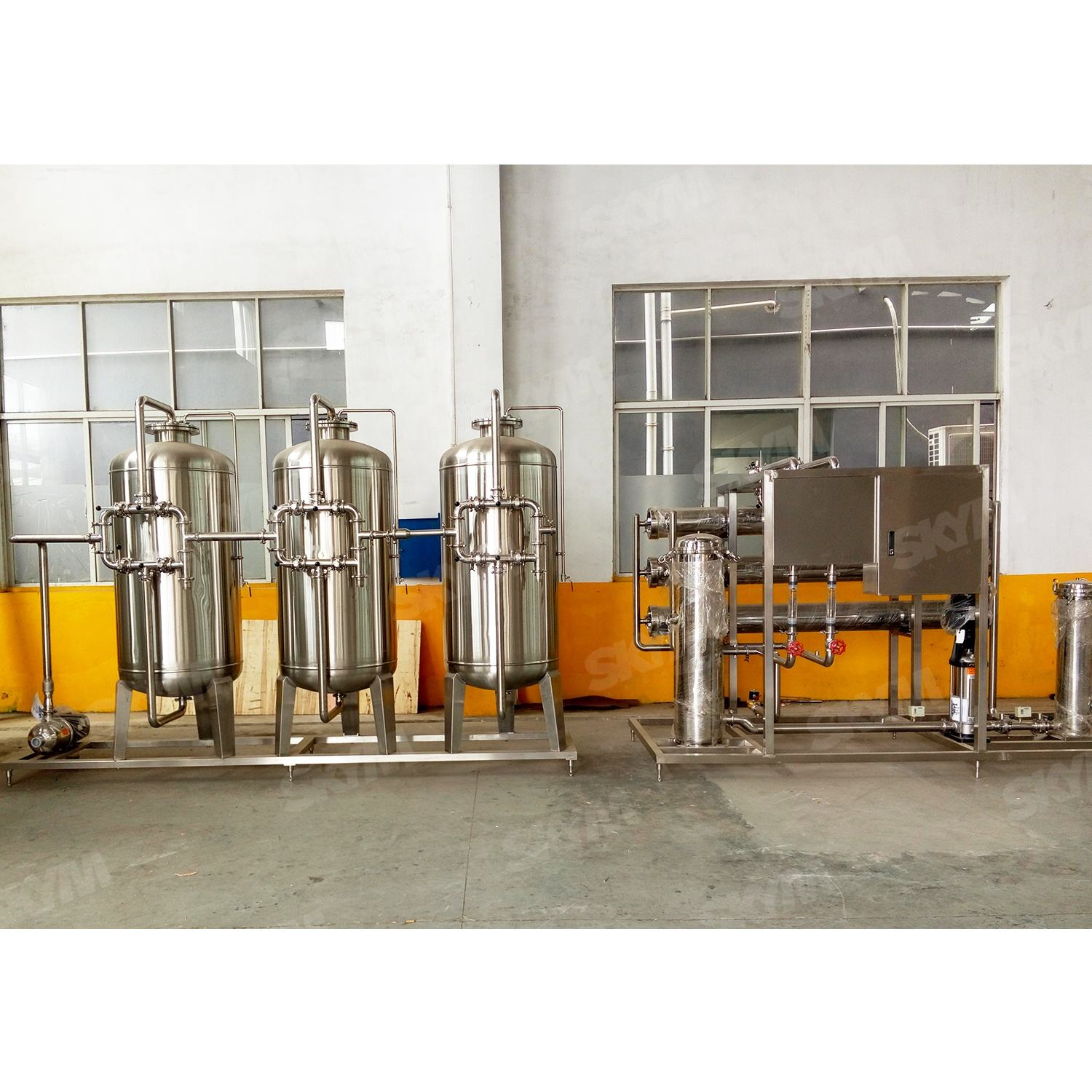 Water Treatment Equipment For Pure Drinking Bottled Water Production Line