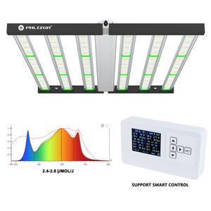 Phlizon New Tech Aluminum Folding Bar Grow Light 720W 800W 1000W LED Hydroponic Light Dimmable Horticulture 2000W led grow light