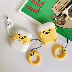 Soft Silicone Cute Cartoon For Airpods Protective Case Buy One Get Corresponding Ring Free