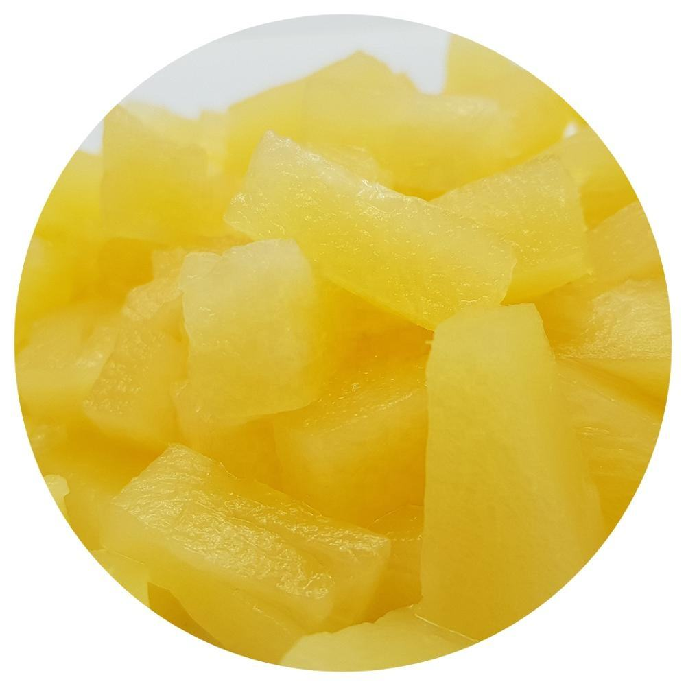 Canned pineapple slices pieces chunks tidbits as request