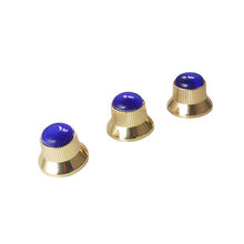 Metal Guitar Volume Tone Control Dome Knob with Blue Pearl