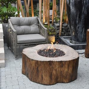 Elementi high quality antique safety gas concrete fire pit outdoor