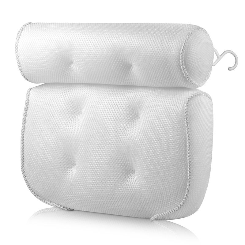 2020 Bathtub Spa Pillow with 4D Air Mesh for Tub Neck Shoulder Headrest for Women/Men Non-Slip Quick Dry Custom Logo Spa Pillow