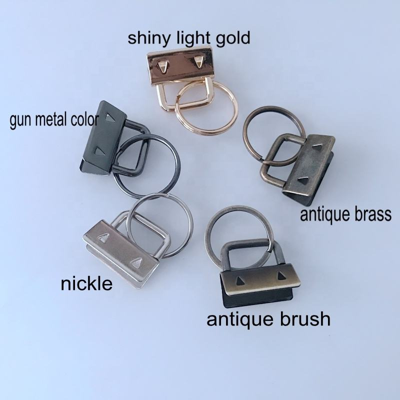 Ivoduff Manufacture End Clip Metal Key Fob For Ribbon 25mm With Flat Ring