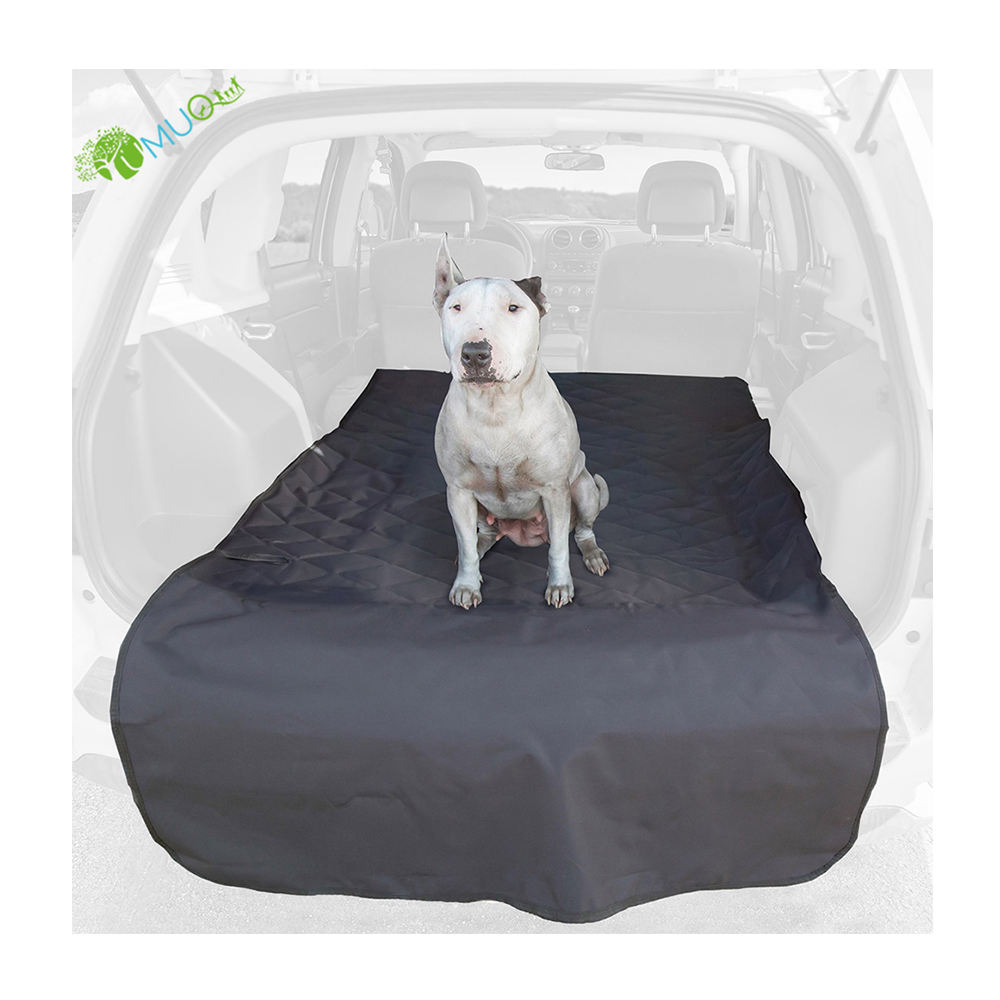 YumuQ Quilted 600D Waterproof Dog / Pet SUV Car Rear Trunk Cargo Cover & Liner with Bumper Flap for Outdoor Travel
