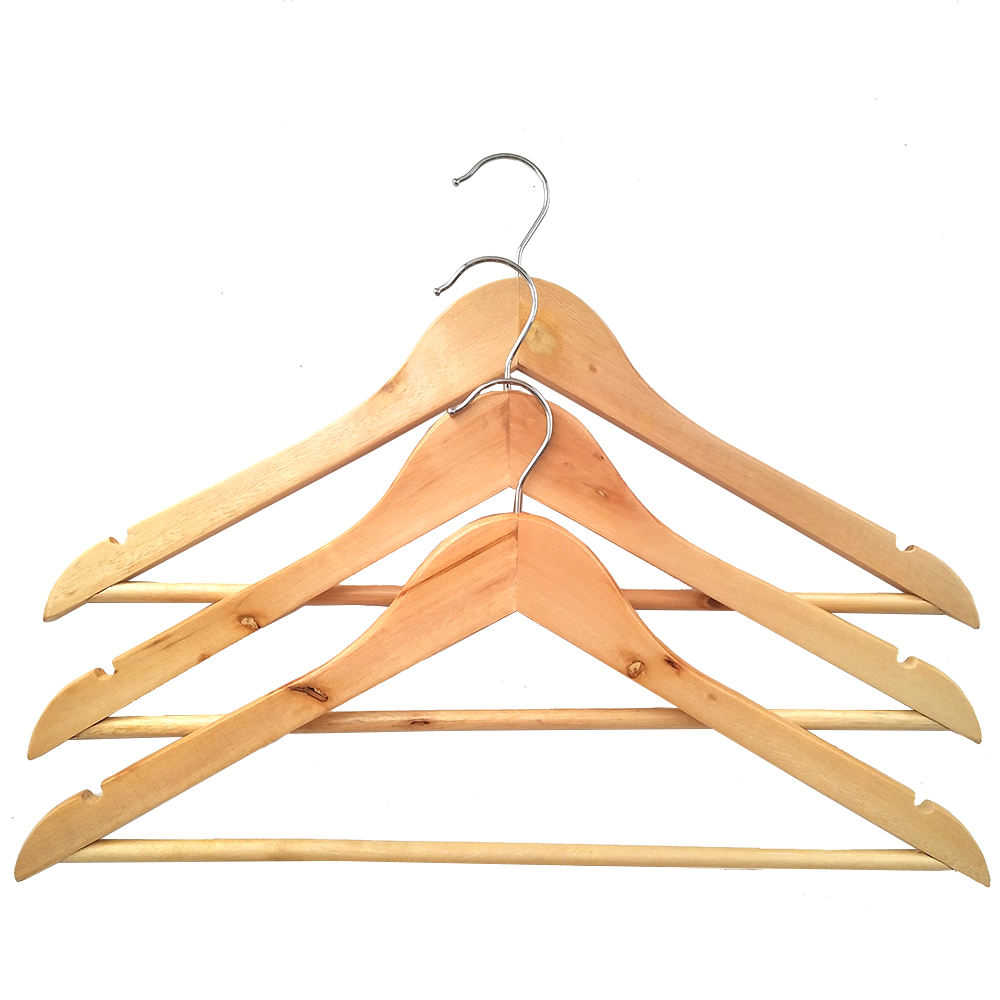 Factory Wholesale Household Items Custom Good Quality Wooden Coat Hangers