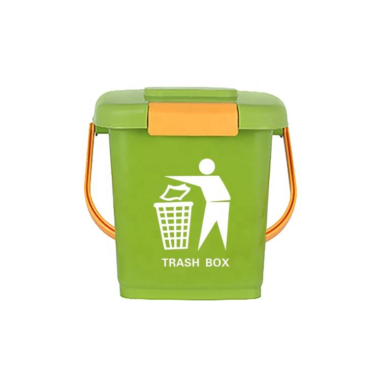 Green Waste Types Of Small Size Swing Lid Plastic Dustbin