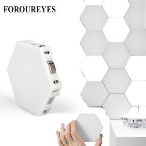 Creative Smart Removable Wall Lamp Quantum Modular Touch Hexagon Geometry Splicing Hex Honeycomb White Led Night Light
