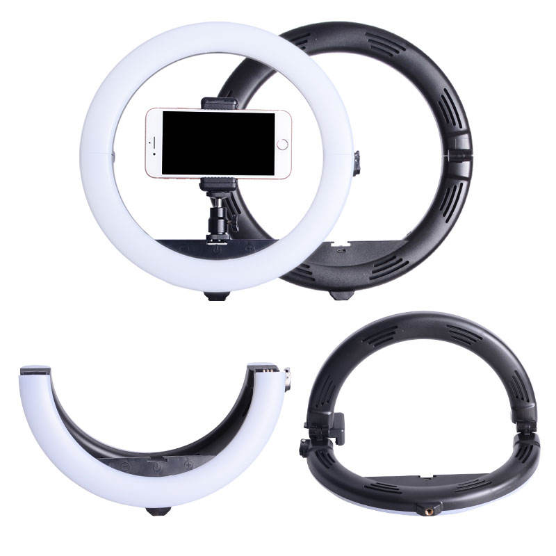 "10"" 26cm Folding Photographic Lighting Selfie LED Ring Light With 1.6m Stand Touch Key-press"