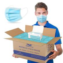 type IIR Medical Melt-blown Fabric Protective Disposable 3ply Face Mask