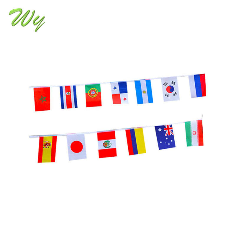 2018 new product promotional world cup flag,national bunting