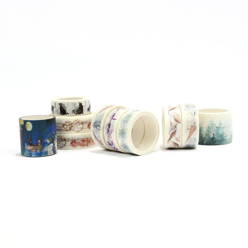 wholesale high quality cute printed floral custom washi tape