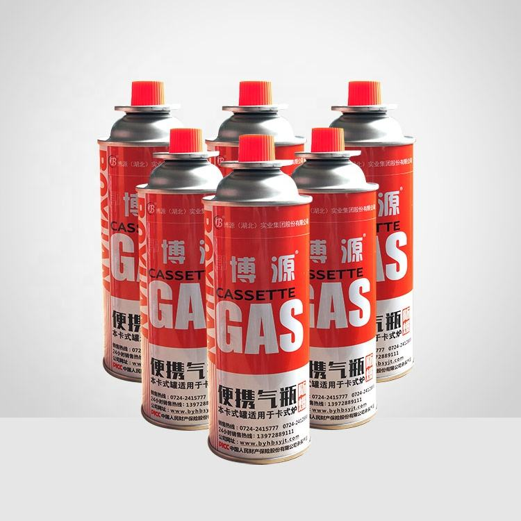 65mm butane camping aerosol gas tin cans / Cartridge gas cans with gas valve