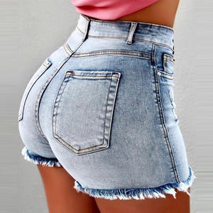 Wholesale Sexy High Waist Women Jeans Shorts Pants
