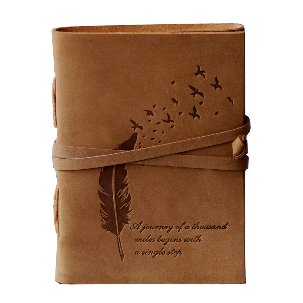 Vintage Leather Embossed Journey of Life Handmade Vintage Travelers writing Genuine Leather Cover Notebook Journal